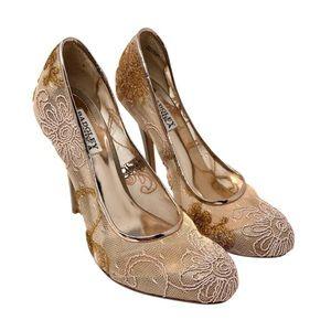 Badgley Mischka lace high heel wedding / prom heel